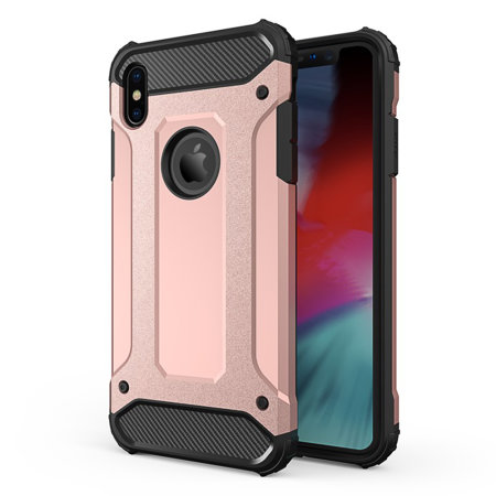Olixar Delta Armour Protective iPhone XS Max Case , Rose Gold