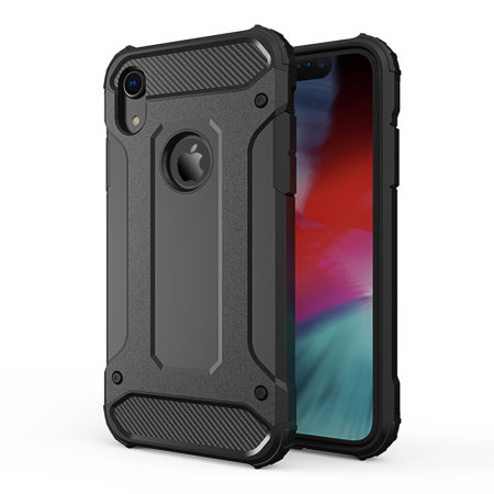 Olixar Delta Armour Protective iPhone XR Case - Black