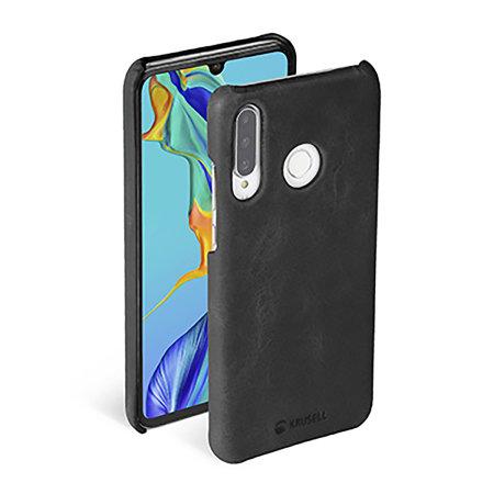 Krusell Sunne Huawei P30 Lite Slim Leather Cover Case - Vintage Black