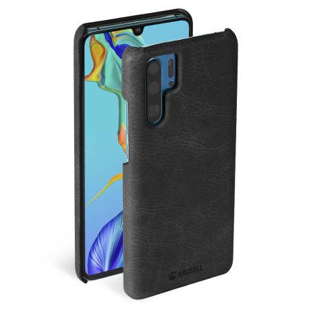 Krusell Huawei P30 Pro Premium Leather Slim Cover Case - Vintage Black