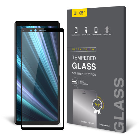 Olixar Sony Xperia 1 Full Cover Glass Screen Protector - Black