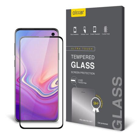 Olixar Samsung S10e Full Cover Glass Screen Protector - Black