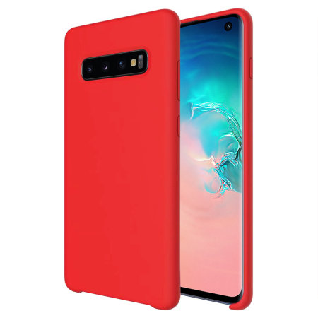 Olixar Samsung Galaxy S10 Soft Silicone Case - Red