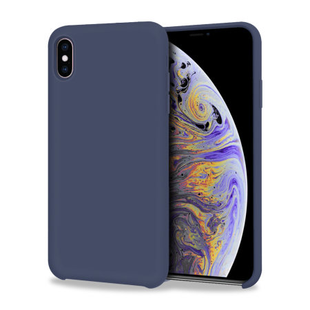 Olixar iPhone X Soft Silicone Case - Midnight Blue