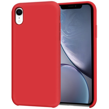 Olixar iPhone XR Soft Silicone Case - Red