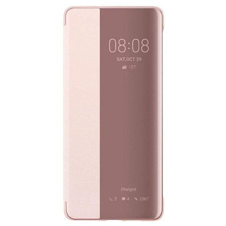 Official Huawei P30 Pro Smart View Flip Cover Slim Case - Pink