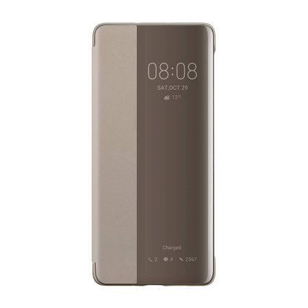 size 40 71779 07e3a Official Huawei P30 Pro Smart View Flip Cover Slim Case - Khaki