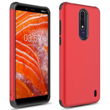 gran venta alta calidad precio más bajo con Funda Nokia 3.1 Plus Zizo Sleek Hybrid Shockproof - Roja