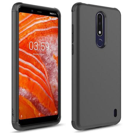 Zizo Sleek Hybrid Shockproof Case for Nokia 3.1 Plus - Black
