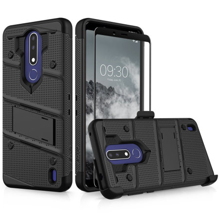 the best attitude 5f875 d88c6 Zizo Bolt Nokia 3.1 Plus Case & Screen Protector- Black
