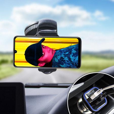Olixar DriveTime Huawei P Smart 2019 Car Holder & Charger Pack