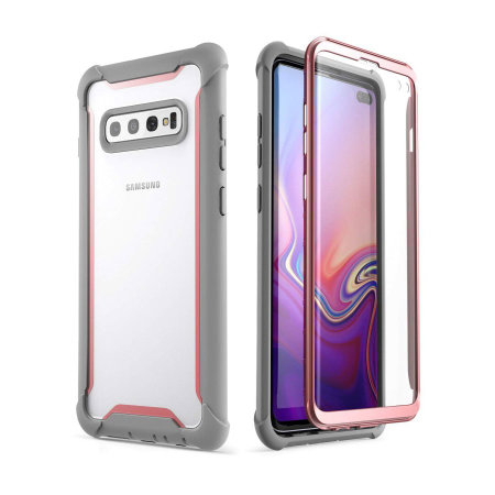 i-Blason Ares Samsung S10 Plus Case and Screen Protector - Pink