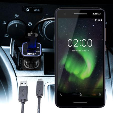 Olixar High Power Nokia 2.1 Car Charger