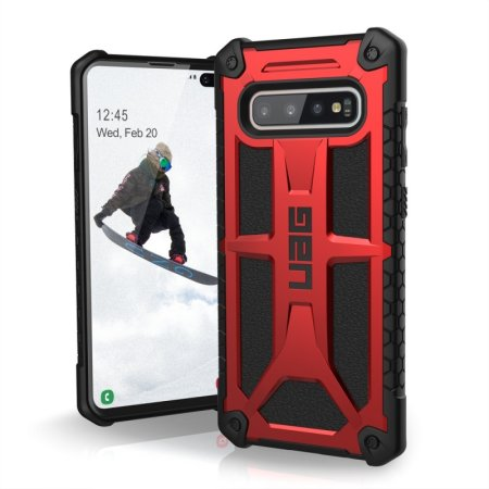 UAG Monarch Samsung Galaxy S10 Plus Protective Case - Crimson
