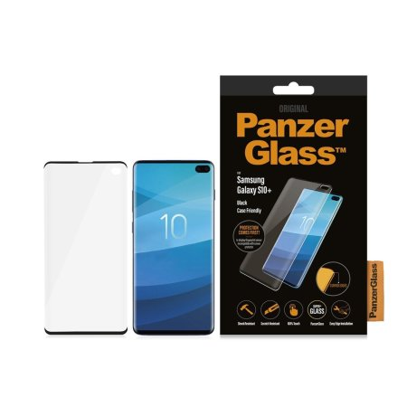 PanzerGlass Samsung Galaxy S10 Plus Screen Protector - Black