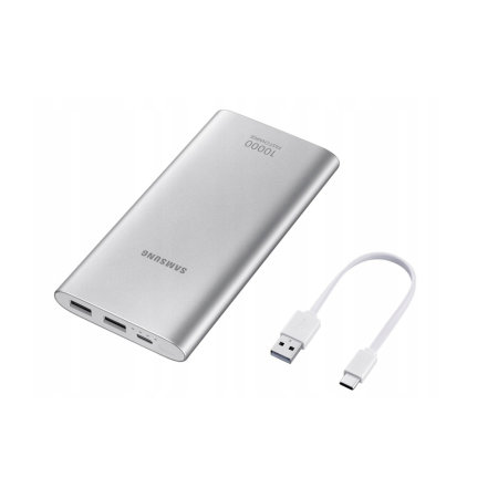 Official Samsung Type-C 10,000mAh Battery Pack - Silver