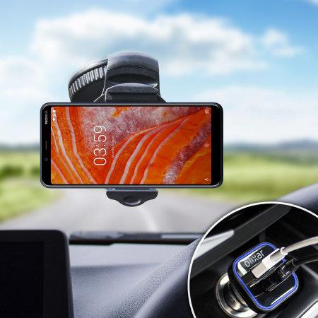 Olixar DriveTime Nokia 3.1 Plus Car Holder & Charger Pack