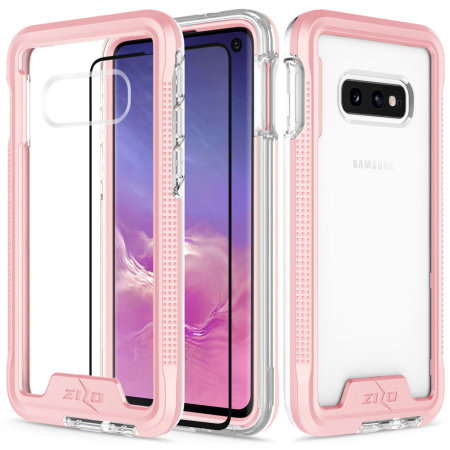 Zizo Ion Series Samsung Galaxy S10e Case + Screen Protector- Rose Gold