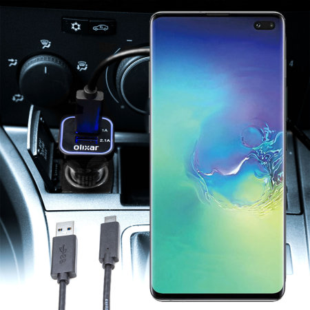 Olixar High Power Samsung Galaxy S10 Plus Car Charger