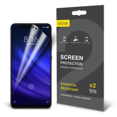 Olixar Xiaomi Mi 8 Pro Film Screen Protector 2-in-1 Pack