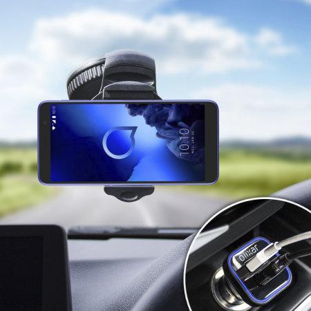 Olixar DriveTime Alcatel 1x 2019 Car Holder & Charger Pack