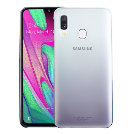 Official Samsung Galaxy A40 Gradation Cover Case - Black