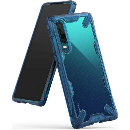 Coque Huawei P30 Rearth Ringke Fusion X – Bleu espace