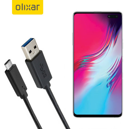 Olixar USB-C Samsung Galaxy S10 5G Charging Cable - Black 1m