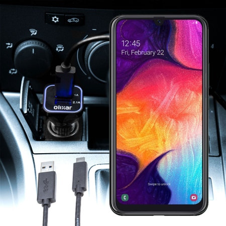 Official Samsung Galaxy A50 USB C Fast Car Charger Cable
