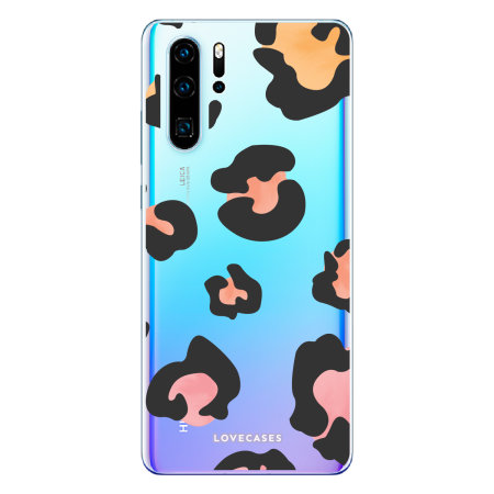 LoveCases Huawei P30 Pro Leopard Print Clear Phone Case - Multicolour