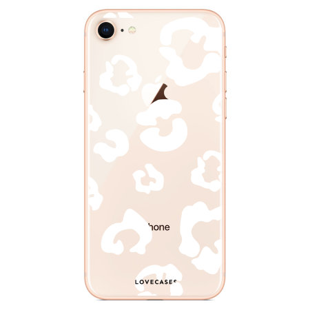 LoveCases iPhone 7 Leopard Print Case - Clear White