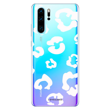 LoveCases Huawei P30 Pro Leopard Print Case - Clear White