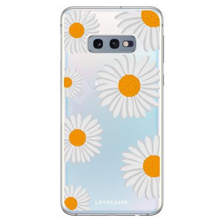 LoveCases Samsung S10e Daisy Case - White