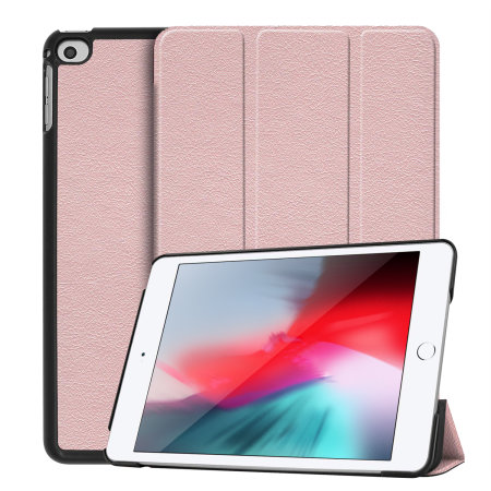 Olixar Leather-style iPad Mini 2019 Case - Rose Gold