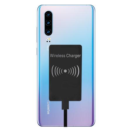 Huawei P30 Ultra Thin USB C Qi Wireless Charging Adapter