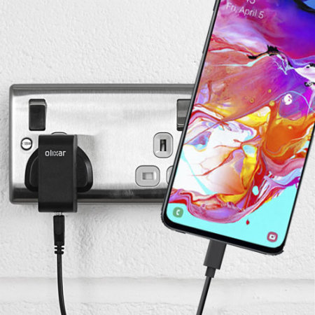 High Power Samsung Galaxy A70 Wall Charger & 1m USB-C Cable