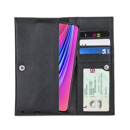 Olixar Primo Genuine Leather Vivo V15 Pro Wallet Case - Black