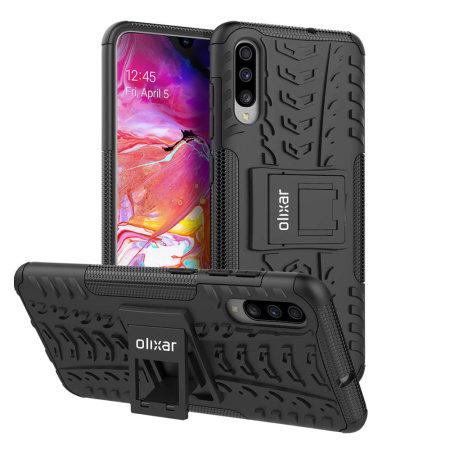 Olixar ArmourDillo Samsung Galaxy A70 Protective Case - Black