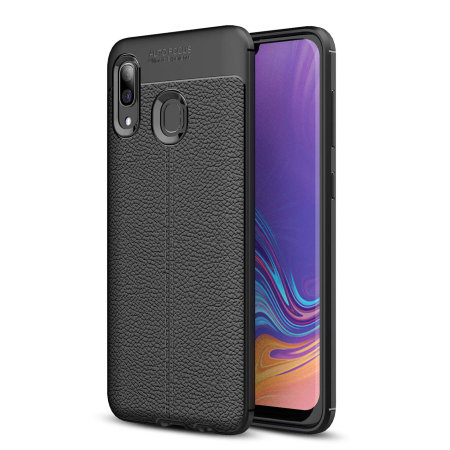 Olixar Attache Samsung Galaxy A40 Leather-Style Case - Black