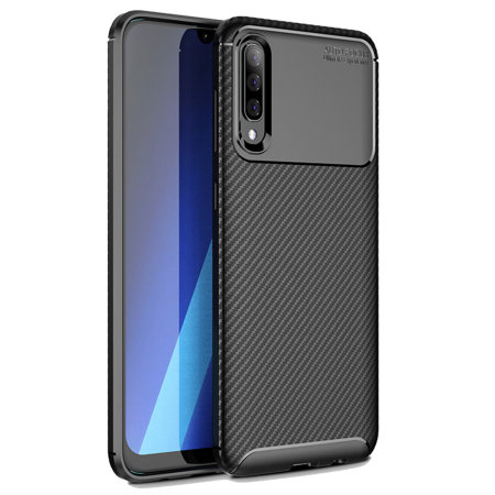 Olixar Carbon Fibre Samsung Galaxy A50 Case - Black