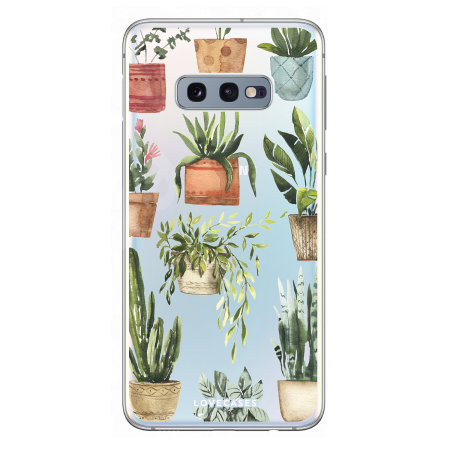 LoveCases Samsung S10e Plant Phone Case - Clear Multi