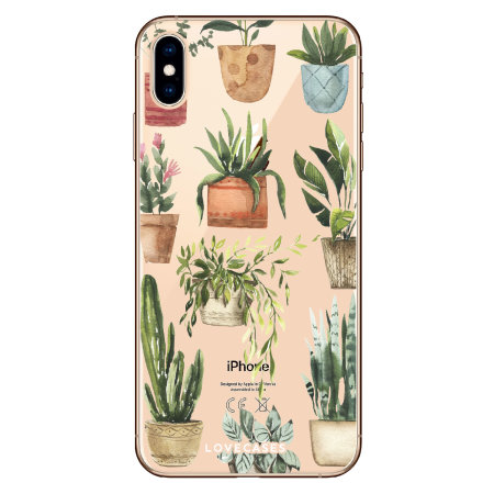 LoveCases iPhone XS Plant Phone Case - Clear Multi