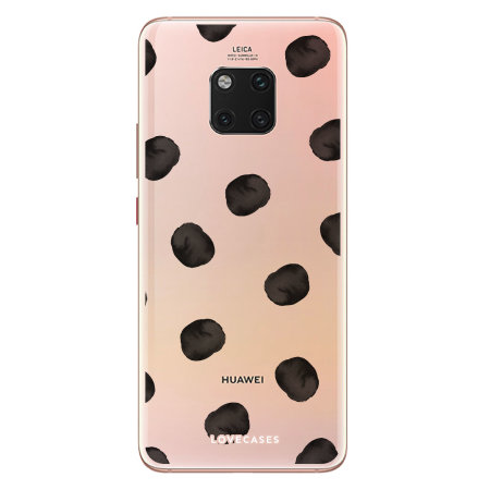 LoveCases Huawei Mate 20 Pro Polka Phone Case - Clear Black