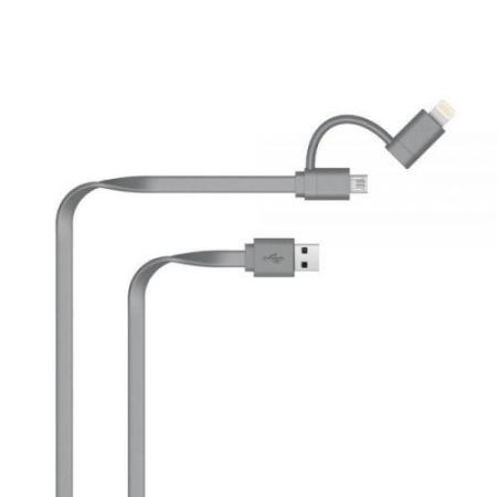 Just Wireless 2 in 1 Apple & Micro USB Charging Charging Cable