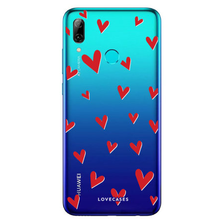 LoveCases Huawei P Smart 2019 Hearts Phone Case - Clear Red