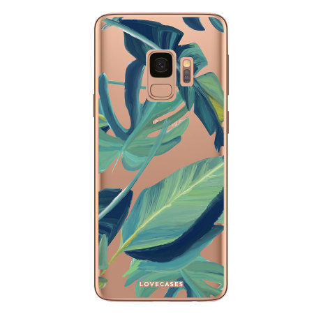 LoveCases Samsung S9 Tropical Phone Case - Clear Green
