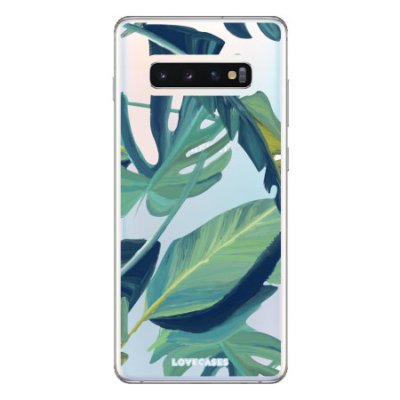 LoveCases Samsung S10 Tropical Phone Case - Clear Green