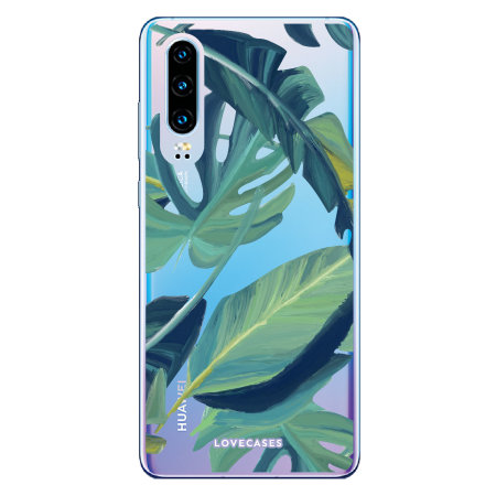 LoveCases Huawei P30 Tropical Phone Case - Clear Green