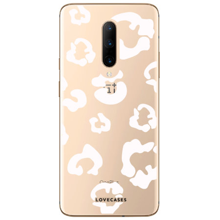 LoveCases OnePlus 7 Pro Leopard Print Case - Clear White
