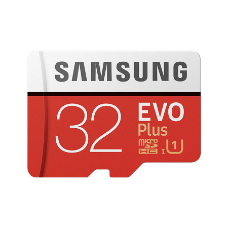 Samsung 32GB MicroSDXC EVO Plus Memory Card w/ SD Adapter - Class 10